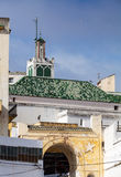 Ancient mosque and roofs of Medina. Tangier, Mo Stock Photo