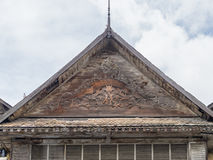 Ancient motifs of the gable. Stock Images
