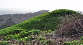 Ancient mound near Jurassic coast. A ancient mound near the Jurassic coast in Dorset Royalty Free Stock Photo