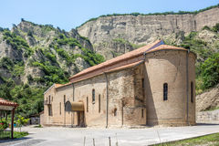 Ancient mountain monastery in Georgia - Shiogvime. It was found Royalty Free Stock Images