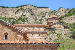 Ancient mountain monastery in Georgia - Shiogvime. It was found Royalty Free Stock Photos