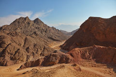 Ancient mountains in Eilat Royalty Free Stock Photography