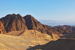 The ancient mountains of Sinai desert Stock Photos