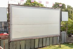 Ancient movie screen outdoor with Royalty Free Stock Images