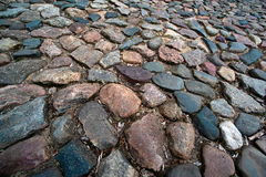 Ancient multicolored paving stone Royalty Free Stock Photos
