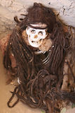 Ancient Mummy With Long Braided Hair Stock Image