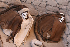 Ancient Mummy Wrapped in Fabric Stock Images