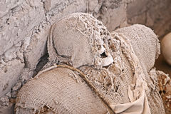 Ancient Mummy Wrapped in Fabric Royalty Free Stock Photos