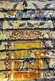 Ancient Mural Fresco in Romania Stock Photos