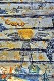 Ancient Mural Fresco in Romania Royalty Free Stock Photo