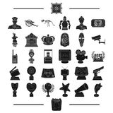 Ancient, museum, antiquity and other web icon in black style.gifts, history, products, icons in set collection. Ancient, museum, antiquity and other  icon in Royalty Free Stock Image