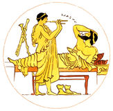 Ancient music greek. Representation of music in ancient greece Stock Photos