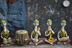 Ancient musicians in India. Ancient musicians india violin  tabala mumbai stock photography