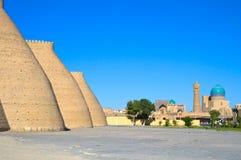 Ancient Muslim Architectural Complex, Uzbekistan. Ancient Muslim Architectural Complex Poi-Kalyan in Bukhara, Uzbekistan, 12-16 century, UNESCO World Heritage Royalty Free Stock Photography