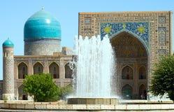 Ancient Muslim Architecture Complex, Uzbekistan. Ancient Muslim Architecture Complex Registan in Samarkand, madrasah Tilla-Kari, 17 century, Uzbekistan, UNESCO Stock Photos
