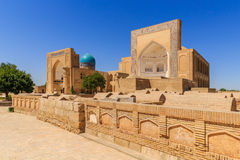 The Ancient Muslim Architecture memorial complex Chor-Bakr in Bukhara, Uzbekistan. Сity of the dead. Stock Photos