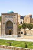 Ancient Muslim Mausoleum. Shochi-Zinda in Samarkand, Uzbekistan, 16 century, UNESCO World Heritage Site Stock Photos
