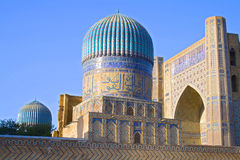 Ancient Muslim Mausoleum. Bibi-Khonum in Samarkand, Uzbekistan, 14 century, UNESCO World Heritage Site Royalty Free Stock Images