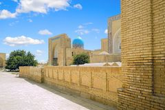 Ancient Muslim necropolis in Bukhara, Uzbekistan. The Ancient Muslim Architecture memorial Complex  Chor-Bakr in Bukhara, was built over the ostensible burial Stock Image