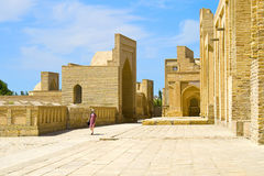Ancient Muslim necropolis in Bukhara, Uzbekistan. The Ancient Muslim Architecture memorial Complex  Chor-Bakr in Bukhara, was built over the burial place of Abu Royalty Free Stock Image