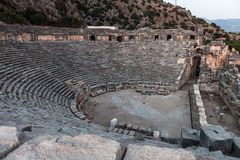 Ancient Myra greek theatre at Turkey Demre Royalty Free Stock Photography