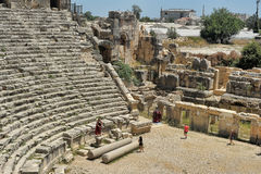Ancient Myra greek theatre at Turkey Demre Stock Images