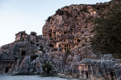 Ancient Myra rock tomb at Turkey Demre Stock Image