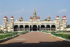 The ancient Mysore palace Stock Photo