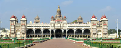 The ancient Mysore palace Stock Images