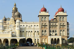 The ancient Mysore palace on India Royalty Free Stock Image
