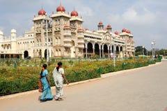 The ancient Mysore palace on India Stock Photos