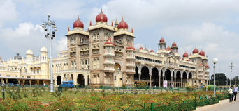 The ancient Mysore palace on India Royalty Free Stock Photos
