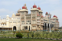 The ancient Mysore palace on India Stock Images