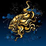 ancient mythical lion royalty free illustration