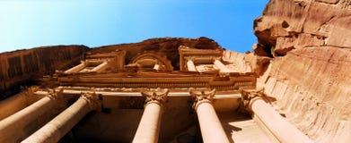 Ancient Nabataean Heritage El Khazna Treasury Petra & x28;Jordan& x29; royalty free stock photography