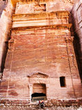 Ancient nabataean tomb in Petra town Royalty Free Stock Images