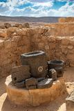 Ancient Nabatean City of Mamshit. This ancient Christian Nabatean city in Israel`s Negev desert was abandoned after the Muslim consquest in the 7th century Stock Photos