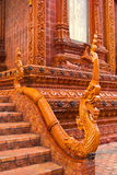 Ancient naga statue art. Ancient naga statue in thai temple stock photo