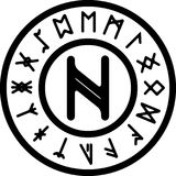 The ancient nagal rune Stock Images