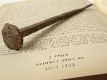 Ancient nail stock photography