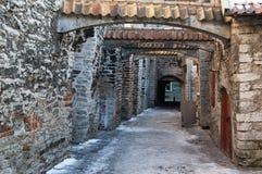 Ancient narrow street. In Tallinn Royalty Free Stock Photo