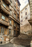 Ancient narrow street in Rome Stock Photo
