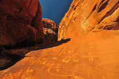 Ancient Native American Petroglyphs, Nevada Royalty Free Stock Photos