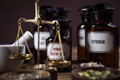 The ancient natural medicine Stock Photo
