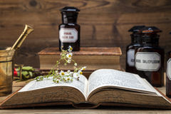 The ancient natural medicine, herbs and medicines Stock Photography