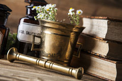 The ancient natural medicine, herbs and medicines Stock Photo