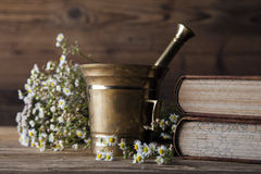 The ancient natural medicine, herbs and medicines Stock Photos