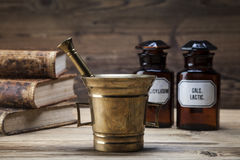 The ancient natural medicine, herbs and medicines Royalty Free Stock Photography