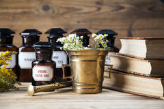 The ancient natural medicine, herbs and medicines stock photos