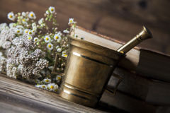 The ancient natural medicine, herbs and medicines Royalty Free Stock Photos